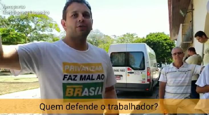 O coordenador do Sindipetro-NF, Tezeu Freitas Bezerra analisa a conjuntura em setorial no Aeroporto de Campos.