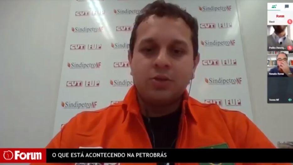 Entrevista do Coordenador do Sindipetro-NF, Tezeu Bezerra, à Revista Forum, falando sobre o que está acontecendo na Petrobrás atualmente.