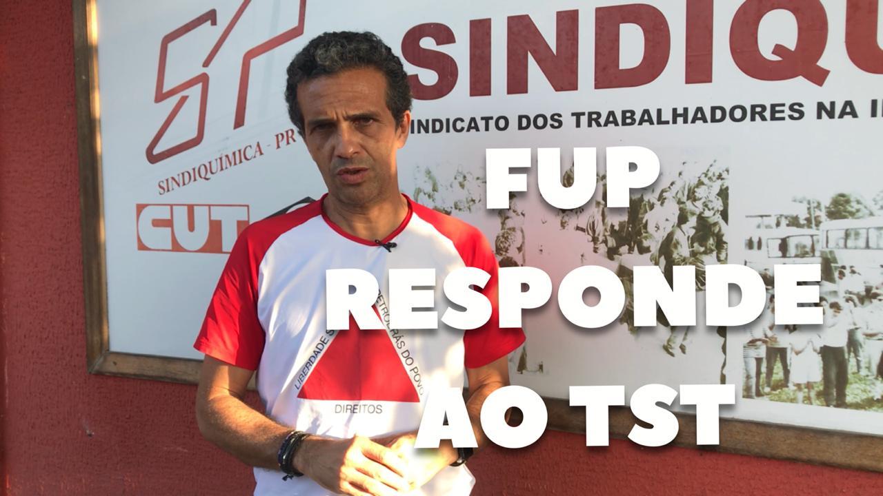 FUP informa ao TST prazo para realização de assembleias