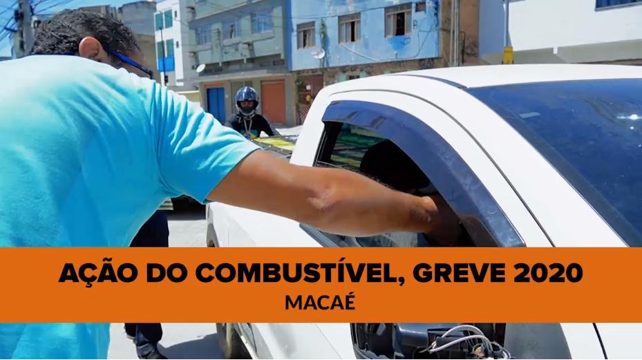 Ação da gasolina em Macaé denuncia política de preço dos combustíveis