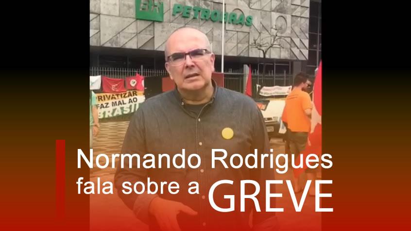 Normando Rodrigues fala sobre a greve